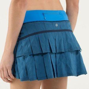 NWOT Lululemon Run: Pace Setter Skirt Blue 2T